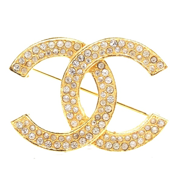 CHANEL Jewelry - Cc Smoked Crystals Hardware Brooch Pin Charm